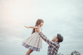 Father And Daughter In Happiness Stock Photos - 83661193