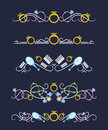 Vector Text Dividers With Women`s Accessories Royalty Free Stock Photo - 83663745