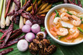 Spicy Soup Shrimp With Red Curry Stock Photos - 83683923