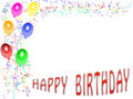 Happy Birthday Card (01) Royalty Free Stock Image - 8373056