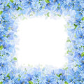 Frame With Blue Flowers. Vector Illustration. Stock Photo - 83711640
