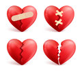 Broken Hearts Vector Set Of 3d Realistic Icons And Symbols Royalty Free Stock Images - 83724989