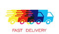 Delivery Truck Logo Vector Illustration. Fast Delivery Service Shipping Icon. Stock Image - 83730981