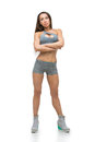 Beautiful Fit Girl In Sport Bra And Shorts Stock Photos - 83733623