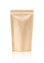 Blank Packaging Recycle Kraft Paper Pouch Royalty Free Stock Photo - 83739585