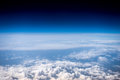 Fluffy White Clouds And Blue Sky. Stratosphere. View From Above Stock Photos - 83755033