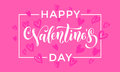Valentines Day Heart Pattern Greeting Card Calligraphy Stock Image - 83790621