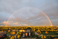 Rainbow Over The City Stock Images - 83796544