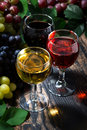 Assortment Of Wine On Wooden Background, Vertical, Top View Stock Photography - 83798442