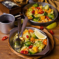 Pasta With Vegetables Royalty Free Stock Images - 83803779