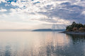 Sunset On Lake Kinneret Near The Town Of Tiberias In Israel Royalty Free Stock Photo - 83813335