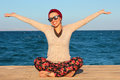 Happy Woman By The Seaside Royalty Free Stock Images - 83816389
