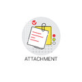 Attachment Note Work Office Tool Icon Stock Photo - 83824100