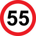 55 Speed Limitation Road Sign Royalty Free Stock Image - 83830186