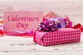 Valentine`s Day Present Box. Royalty Free Stock Photo - 83843585