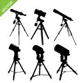 Telescope Silhouette Vector Royalty Free Stock Image - 83848726