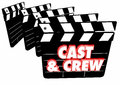 Cast And Crew Film Credits Movie Clapper Boards Stock Photography - 83849902