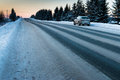 Snow-covered Road On A Winter Day Royalty Free Stock Photo - 83857525