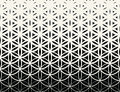 Abstract Sacred Geometry Black And White Gradient Flower Of Life Halftone  Pattern Stock Photos - 83871283