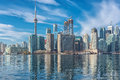 Toronto Skyline With CN Tower With Reflection In The Lake. Canada. Stock Images - 83877204