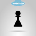 Icon Chess Piece On A Gray Background. Vector Illustration. Pawn Stock Photo - 83881460
