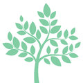 Decorative Simple Tree In Green. Vector Illustration Stock Photography - 83882892