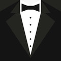 Black Tuxedo With A Butterfly And A White Shirt. Vector Illustration Stock Photography - 83885172