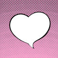 Speech Bubble Heart Shaped Royalty Free Stock Images - 83886609