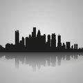 Black Silhouette Of Boston With Reflection. Vector Illustration Stock Photos - 83892183