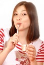 Woman Eating Ice Cream Royalty Free Stock Image - 8391966
