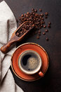 Coffee Cup On Old Kitchen Table Royalty Free Stock Images - 83904909