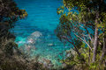 Clear Blue Waters Of Ocean And Lush Greenery In Abel Tasman National Park Royalty Free Stock Photography - 83921597