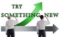 Try Something New Concept Drawn By Businessmen Stock Photography - 83935772
