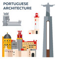 Portuguese Architcture. Travel To Portugal. Vector Illustration. Stock Image - 83945641