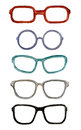 Set Of Watercolor Male Glasses Royalty Free Stock Photography - 83953707
