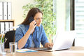 Entrepreneur Calling Customer Support To Solve A Problem Stock Photo - 83957880