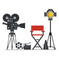 Film Set Director Chair Royalty Free Stock Images - 83960869