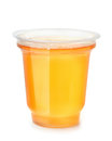 Plastic Cup Of Fruit Jelly Dessert Royalty Free Stock Photography - 83963967