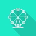 Ferris Wheel Icon With Long Shadow Stock Photography - 83996062