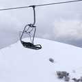 Chair Lift And Gray Sky At Evening Stock Photo - 84002140