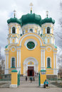 Cathedral Of The Saint Apostle Pavel In The Cloudy April Afternoon. Leningrad Region Royalty Free Stock Photo - 84010215