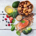 Selection Of Healthy Food For Heart, Life Concept Stock Image - 84011491