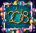 2018 Happy New Year Background For Your Seasonal Flyers Royalty Free Stock Photos - 84022128