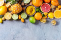 Variety Of Citrus Fruits Royalty Free Stock Image - 84057356