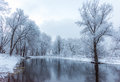Not Frozen Pond In Winter Stock Images - 84060264