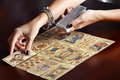 Placing Tarot Cards On Table Stock Photography - 84060392