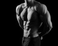 Black And White Shots Of A Male Fitness Model Royalty Free Stock Images - 84062629