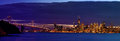San Francisco Bay Area Skyline After Sunset Royalty Free Stock Images - 84083879