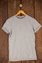 Grey T-shirt On Hanger Royalty Free Stock Photos - 84090708