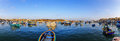 Boats In The Harbor Of Marsaxlokk Royalty Free Stock Images - 84118639